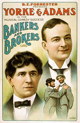 Bankers And Brokers Print by David Letts