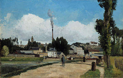 Banks Of The Oise At Pontoise Print by Camille Pissarro