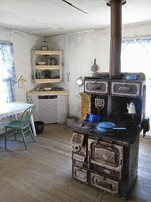 Haunted House Photograph - Bannack Ghost Town  Kitchen And Stove - Montana Territory by Daniel Hagerman