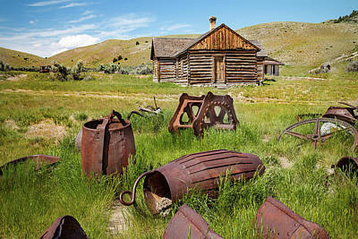 Bannack Remnants  Print by Steven Bateson