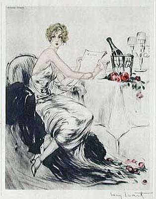 Louis Icart Painting - Banquet by Louis Icart