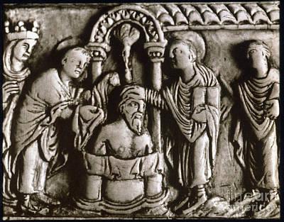 Baptism Painting - Baptism Of Clovis I, 496 A.d by Granger
