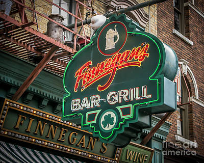 Bar And Grill Print by Perry Webster