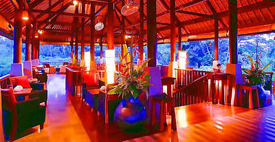 Wine Service Painting - Bar Bedulu by Lanjee Chee