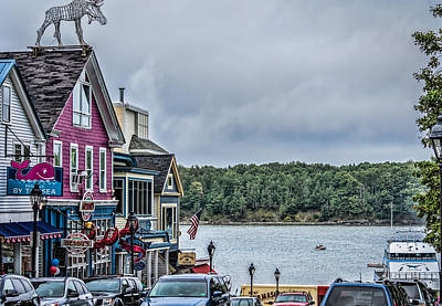 Geddy Photograph - Bar Harbor - Main Street by Black Brook Photography