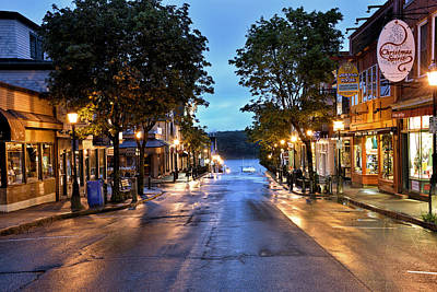 Bar Harbor - Main Street Print by Brendan Reals