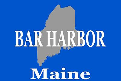 Tourist Attraction Digital Art - Bar Harbor Maine City And Town Pride  by Keith Webber Jr