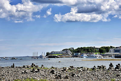 Habor Photograph - Bar Island View Of Bar Harbor - Maine by Brendan Reals