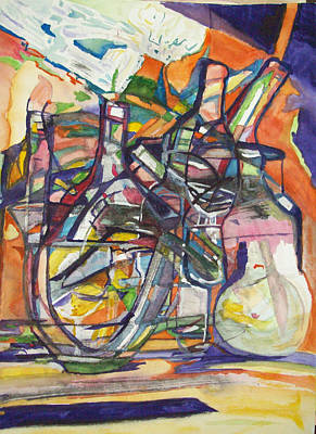 Modesto Painting - Bar Talk by James Christiansen