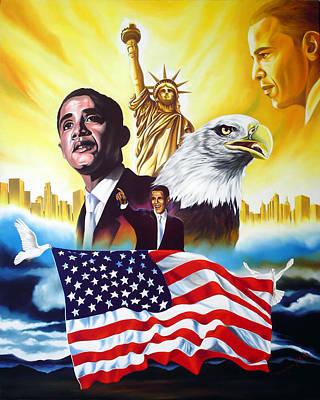Obama Painting - Barack Obama by Hector Monroy