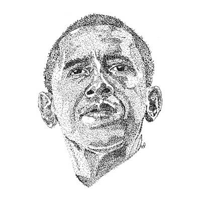 Barack Obama Print by Marcus Price