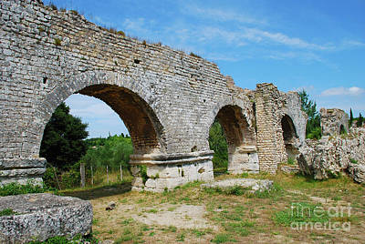 Ruins Photograph - Barbegal Roman Aqueduct And Mills - Arles France by Just Eclectic