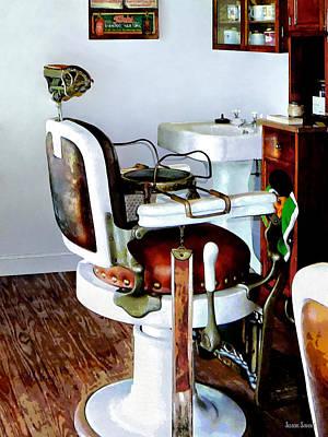 Barber Chair Print by Susan Savad