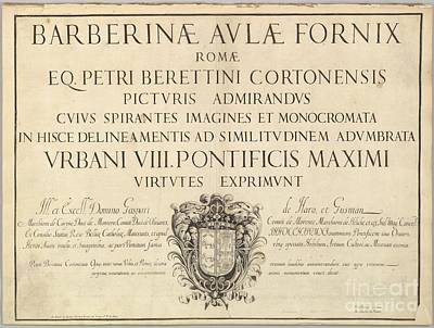 1596 Painting - Barberinae Aulae Fornix by Celestial Images