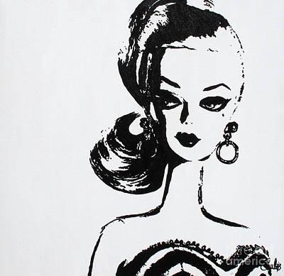 Barbie Painting - Barbie by Christine Paint it Black