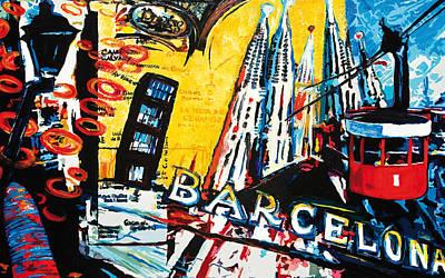 Barcelona Print by Gerald Herrmann