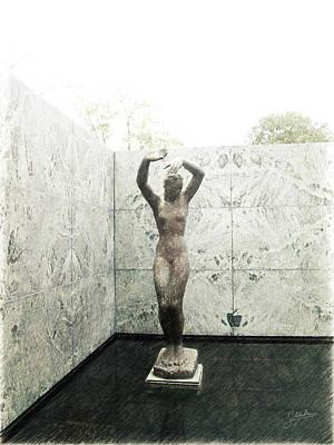 Barcelona Drawing - Barcelona - Mies Van Der Rohe by Joaquin Abella