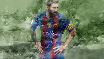 Messi Drawing - Barcelona Painting 150302 by Jani Heinonen