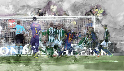 Messi Drawing - Barcelona Painting 6500056 by Jani Heinonen