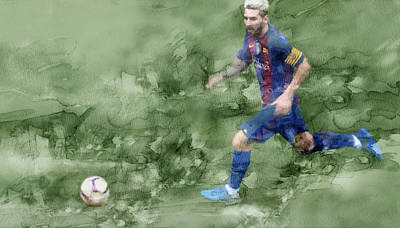 Messi Drawing - Barcelona Painting 78898 by Jani Heinonen