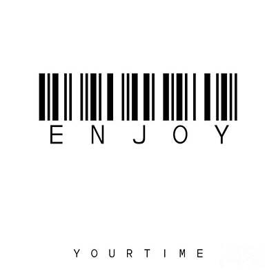Enjoy Digital Art - Barcode Enjoy by Steffi Louis