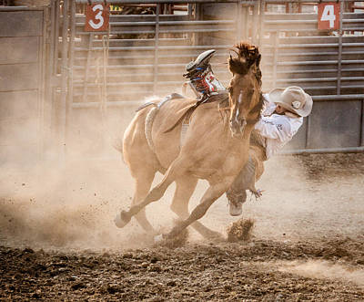 Fair Photograph - Bareback Bronc by Jay Heiser