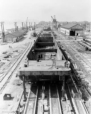 Stock Photograph - Barge Construction by Erich Grant