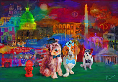 Whitehouse Digital Art - Bark Ball by Karen Derrico