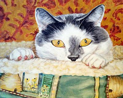 Domestic Short Hair Cat Painting - Barley Cat by Pamela Post