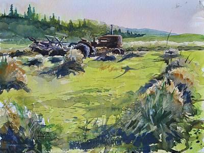 Shock Painting - Barley Harvest by Spencer Meagher