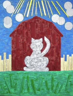 Cornfield Mixed Media - Barn Cat by Judith Finch
