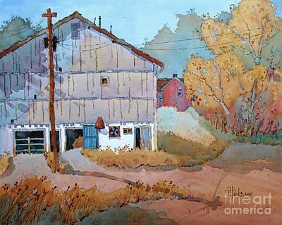 Painting - Barn Door Whimsy by Joyce Hicks