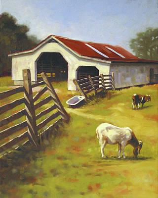 Barn N Goats Print by Todd Baxter