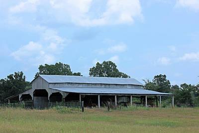 Landscape Photograph - Barn On 305 by Barry Jones