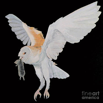 Original featuring the painting Barn Owl by Eric Kempson