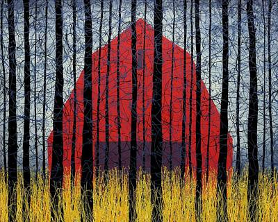 Reverse Painting - Barn Peace by Daniel Lager