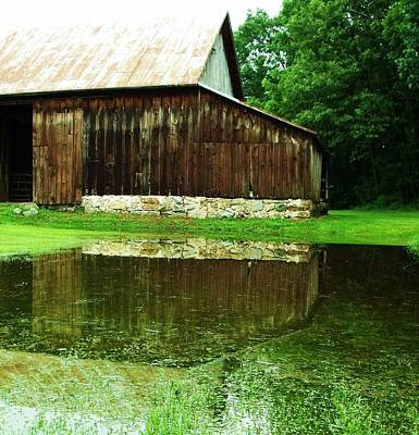 Barn Reflection I Print by Anna Villarreal Garbis