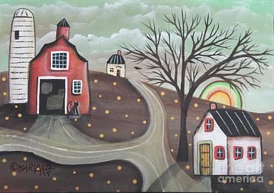 Barn Silo Original by Karla Gerard