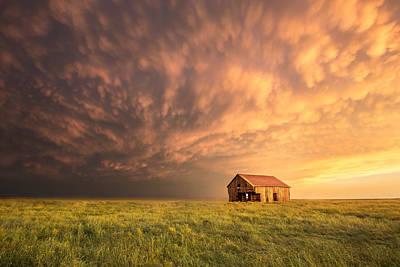 Chris Martin Photograph - Barn Sunset by Chris Martin