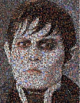 Barnabas Collins Johnny Depp Mosaic Print by Paul Van Scott