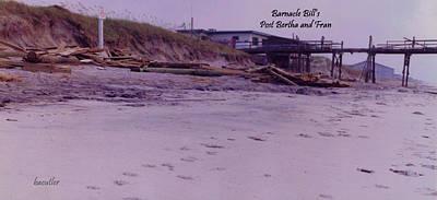 Topsail Photograph - Barnacle Bill's Post Bertha And Fran by Betsy Knapp
