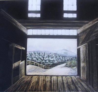 Barndoor View Print by Grace Keown