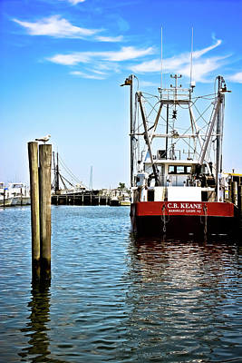 Barnegat Light Fishing Boats Print by Colleen Kammerer