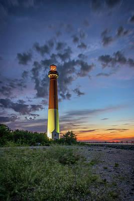 Barnegat Lighthouse At Dusk Print by Rick Berk