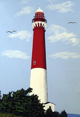 Historic Lighthouse Images Painting - Barnegat Lighthouse by Frederic Kohli
