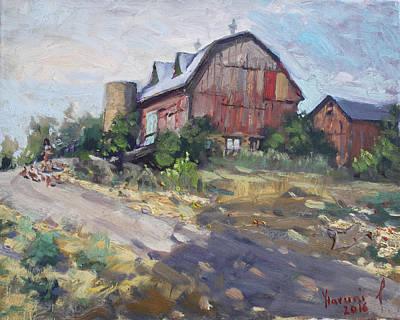 Barn Painting - Barns In Georgetown by Ylli Haruni