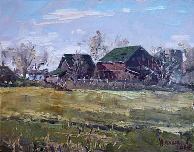 Barns In Niagara County Print by Ylli Haruni