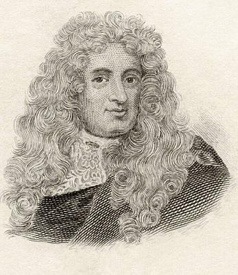 Historian Drawing - Baron Samuel Von Pufendorf, 1632 To by Vintage Design Pics