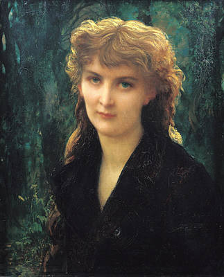 Early Painting - Baronness Eleonore Duckermann by Antoine Auguste Ernest Hebert