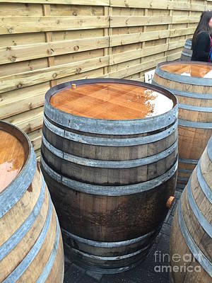 Barrel Photograph - Barrels In Belgium by Evan N